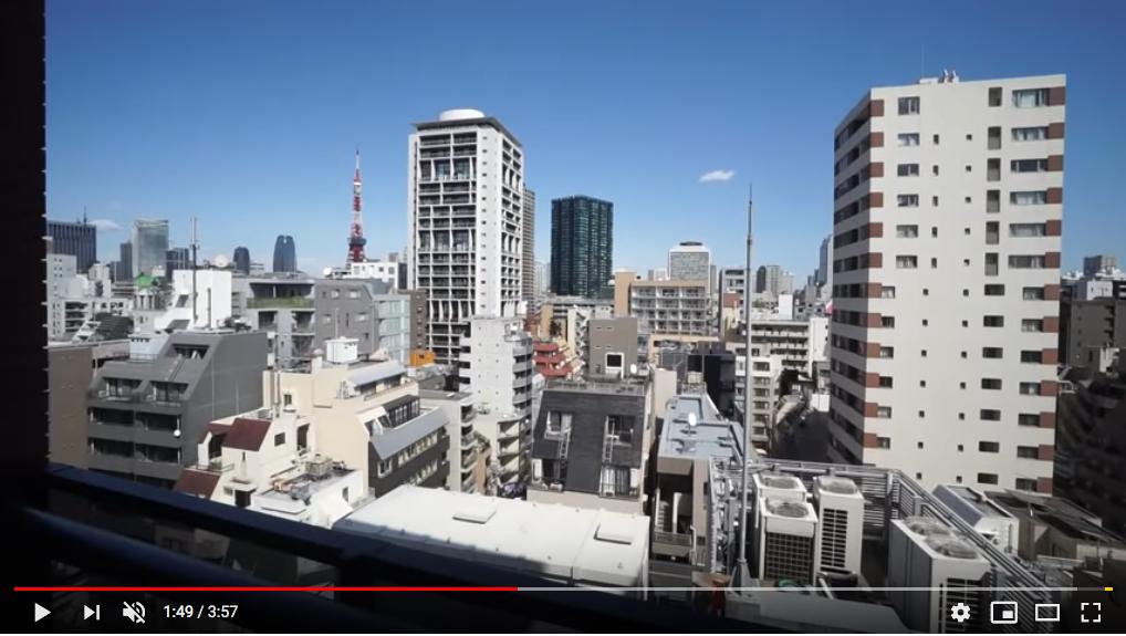 カーサスプレンディッド麻布十番のリビングダイニングからの眺望 東京タワーが望めます!夜景も綺麗