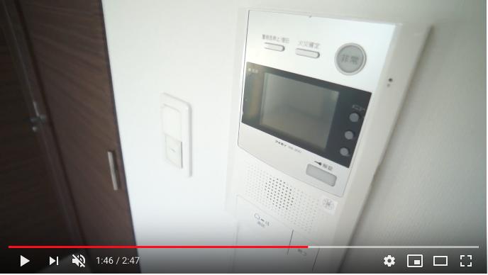 室内にTVモニタ付きインターホン設置済み。モニタ付きオートロックも完備でセキュリティー万全!